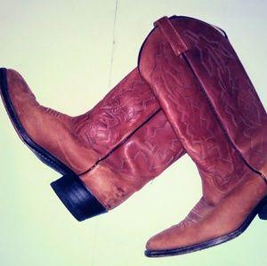 Dan Post Marlboro Mens Boots Size 7.5 D Tan Brown